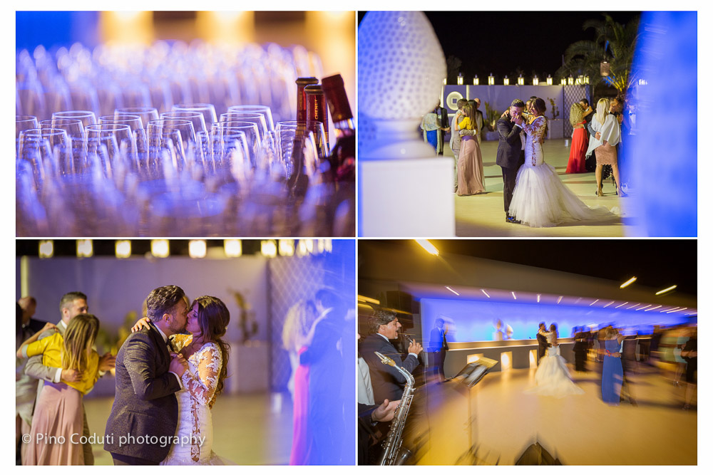 Il primo ballo a Villa Carafa con le luci magiche della sera