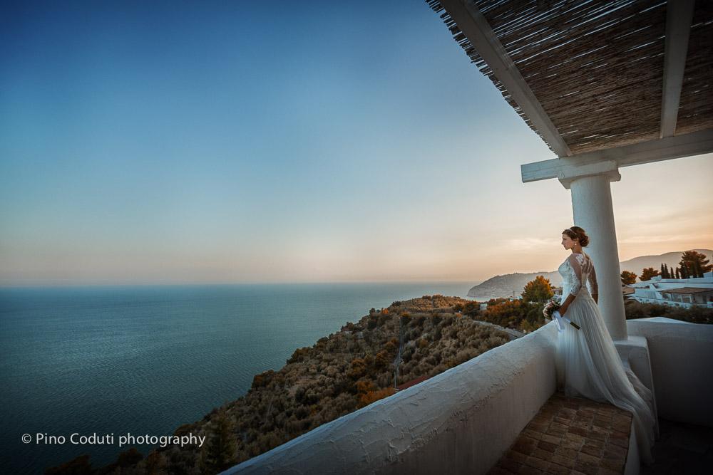 Vista panoramica de ristorante La Locanda del Carrubo a mattinata
