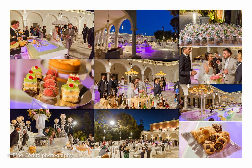 Il buffet di dolci a Villa Ciardi
