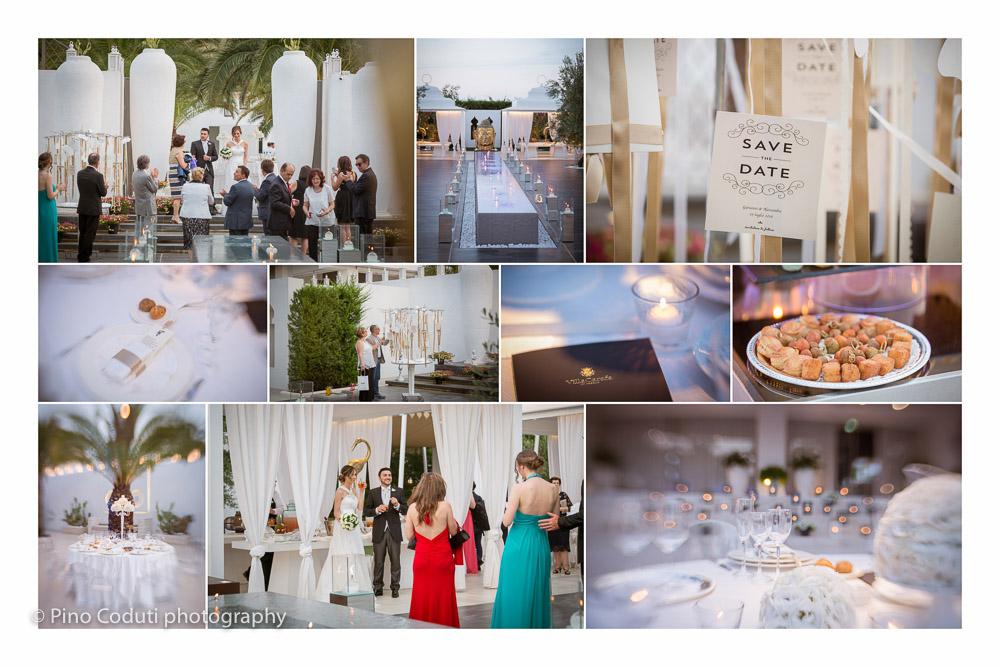 Fotografie degli sposi a Villa Carafa