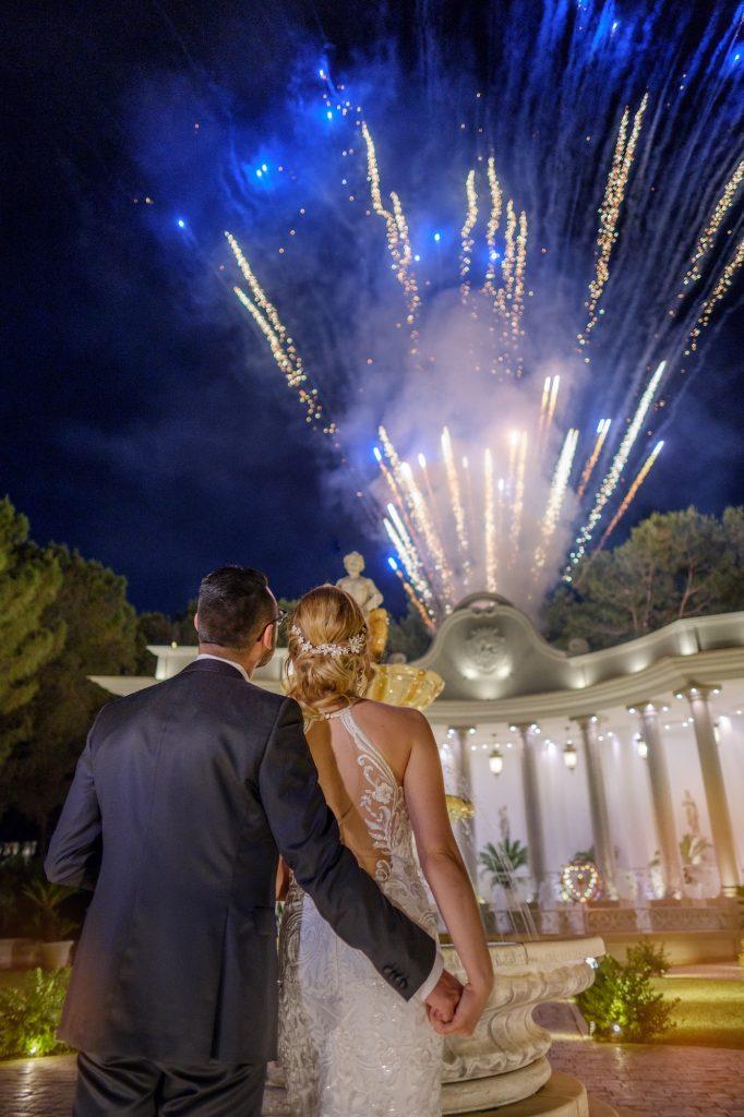 fuochi d'artificio per gli sposi allo Smeraldo di Canosa